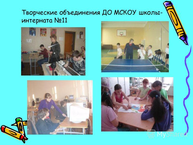 Творческие объединения ДО МСКОУ школы- интерната 11