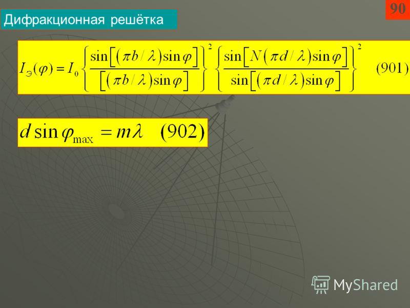 90 Дифракционная решётка