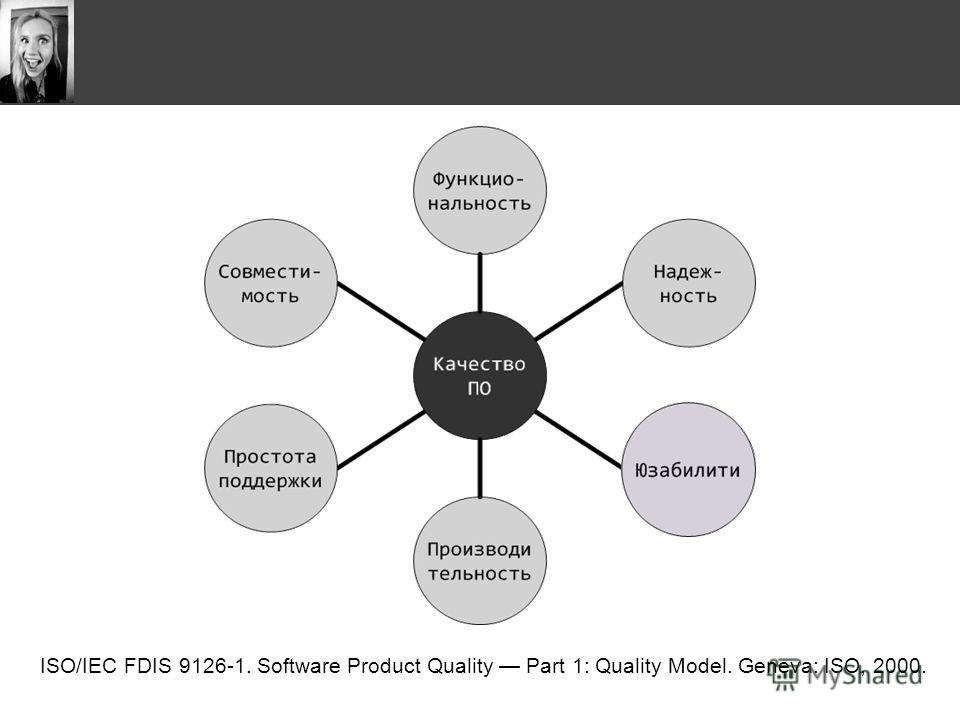 ISO/IEC FDIS 9126-1. Software Product Quality Part 1: Quality Model. Geneva: ISO, 2000.