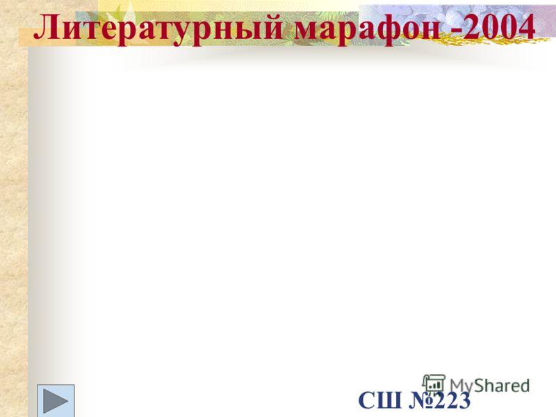 Литературный марафон -2004 СШ 223