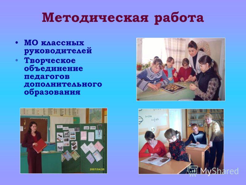 Методическая работа МО классных руководителей Творческое объединение педагогов дополнительного образования