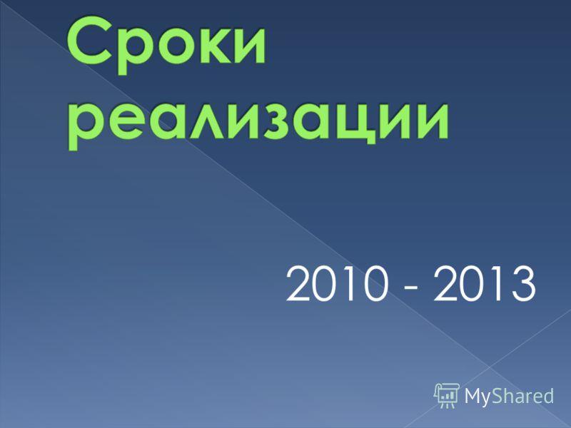 2010 - 2013