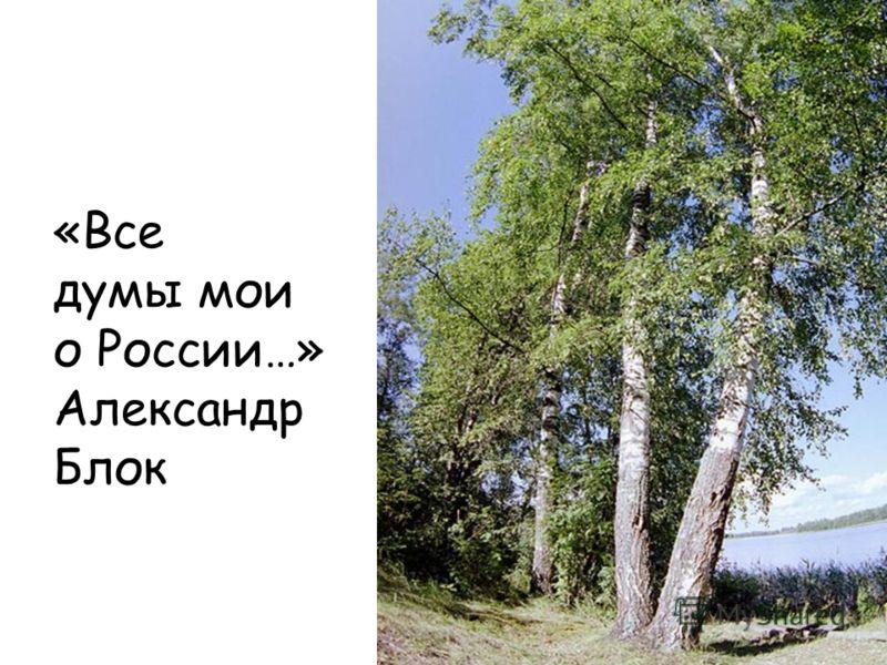 «Все думы мои о России…» Александр Блок