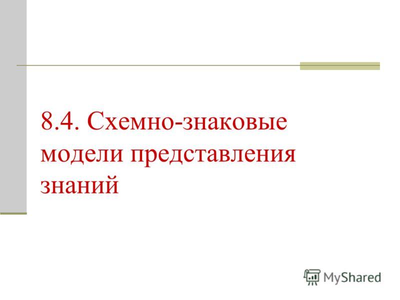 8.4. Схемно-знаковые модели представления знаний