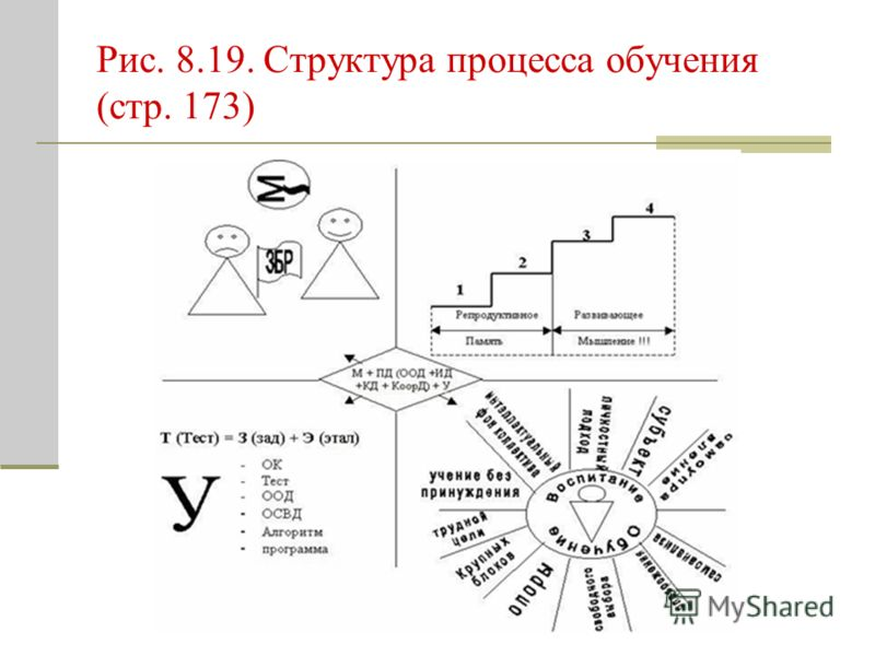 Рис. 8.19. Структура процесса обучения (стр. 173)