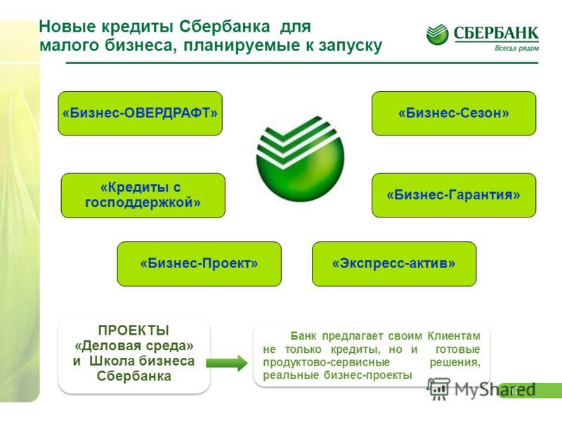 17 Новые кредиты Сбербанка для малого бизнеса, планируемые к запуску «Бизнес-ОВЕРДРАФТ» «Бизнес-Проект» «Бизнес-Сезон» «Бизнес-Гарантия» «Кредиты с господдержкой» Банк предлагает своим Клиентам не только кредиты, но и готовые продуктово-сервисные реш