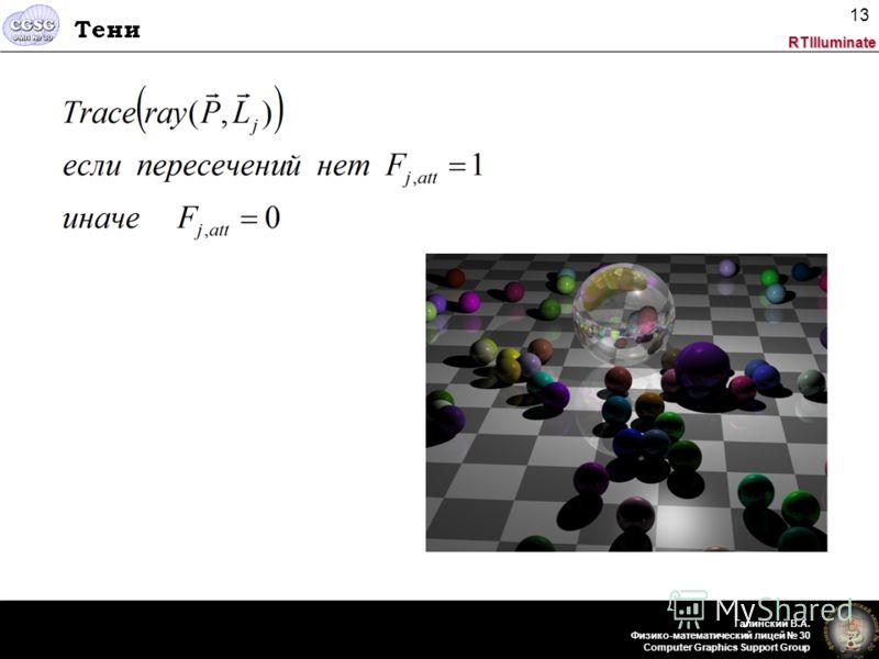 RTIlluminate Галинский В.А. Физико-математический лицей 30 Computer Graphics Support Group 13 Тени