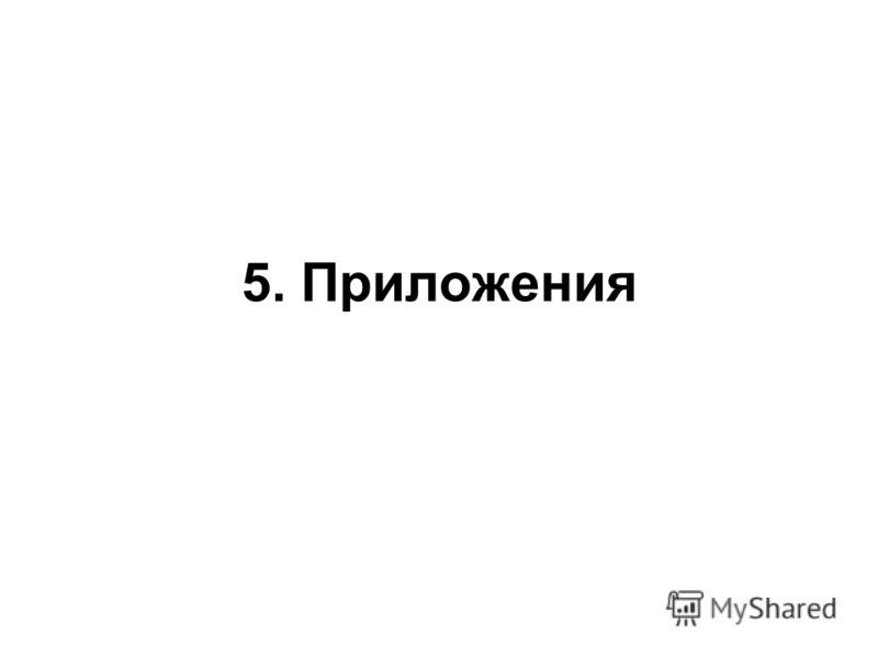 5. Приложения