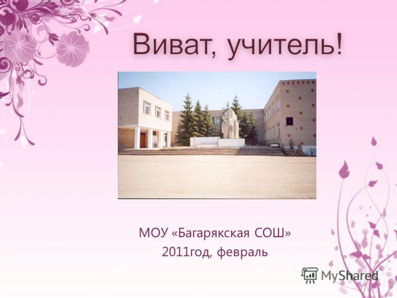 МОУ «Багарякская СОШ» 2011год, февраль