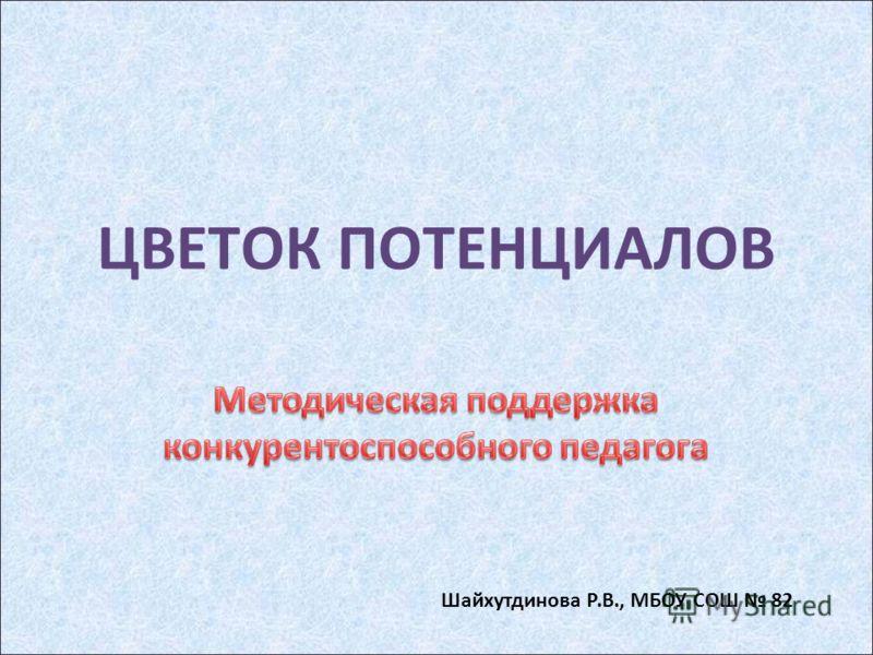 ЦВЕТОК ПОТЕНЦИАЛОВ Шайхутдинова Р.В., МБОУ СОШ 82