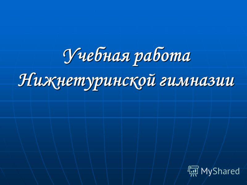 Учебная работа Нижнетуринской гимназии