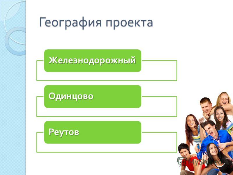 География проекта Железнодорожный Одинцово Реутов