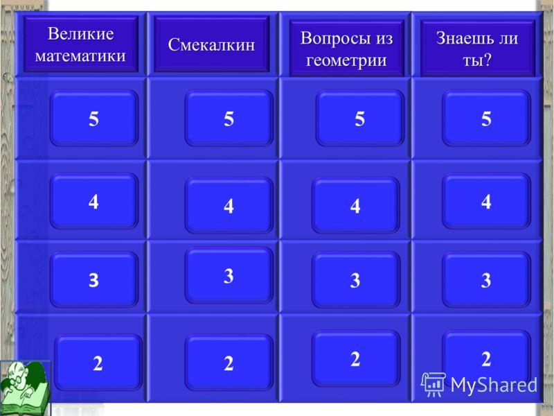 Игра «Счастливый случай» 1.Выбрать категорию вопросов из списка 2.Выбрать стоимость вопроса 3.На каждый вопрос отводится 1 минута 4.При правильном ответе отвечающей команде прибавляются баллы, равные стоимости вопроса 5.При неправильном ответе – балл