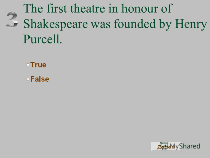 The first theatre in honour of Shakespeare was founded by Henry Purcell.