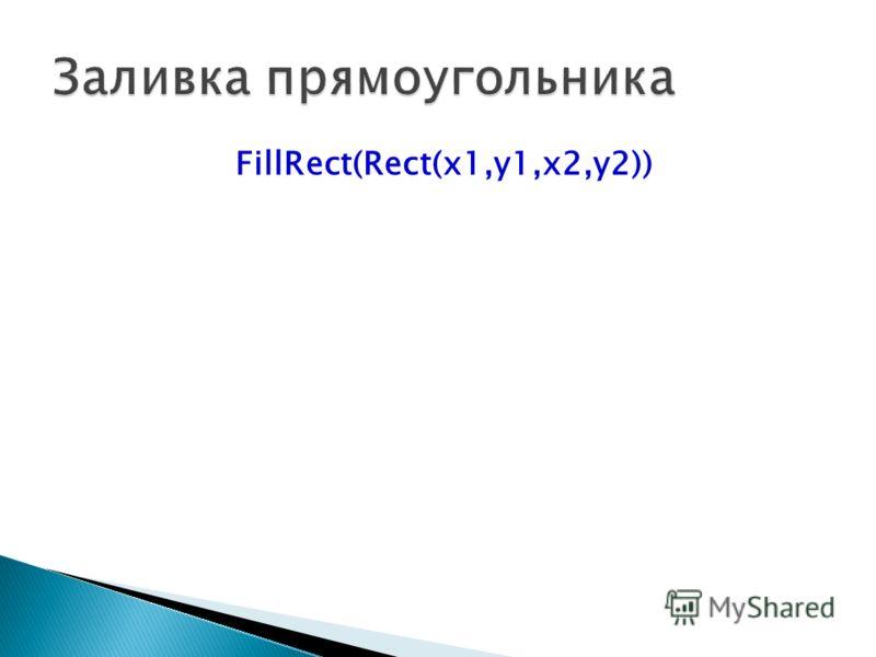 FillRect(Rect(x1,y1,x2,y2))