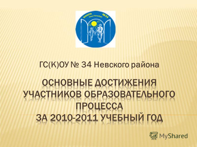 ГС(К)ОУ 34 Невского района