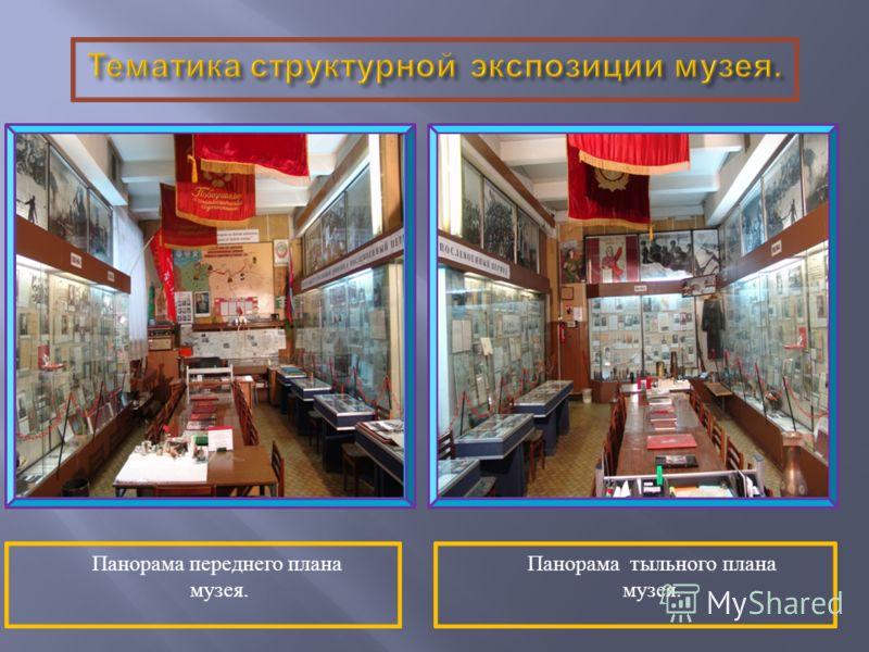 Панорама переднего плана музея. Панорама тыльного плана музея.