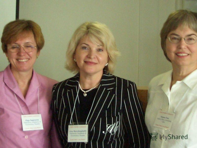 Скоробогатых И.И.28 Презентация исследования на конференции Исследователей маркетинга (апрель 2005 0 г. Лонг Бич (США )