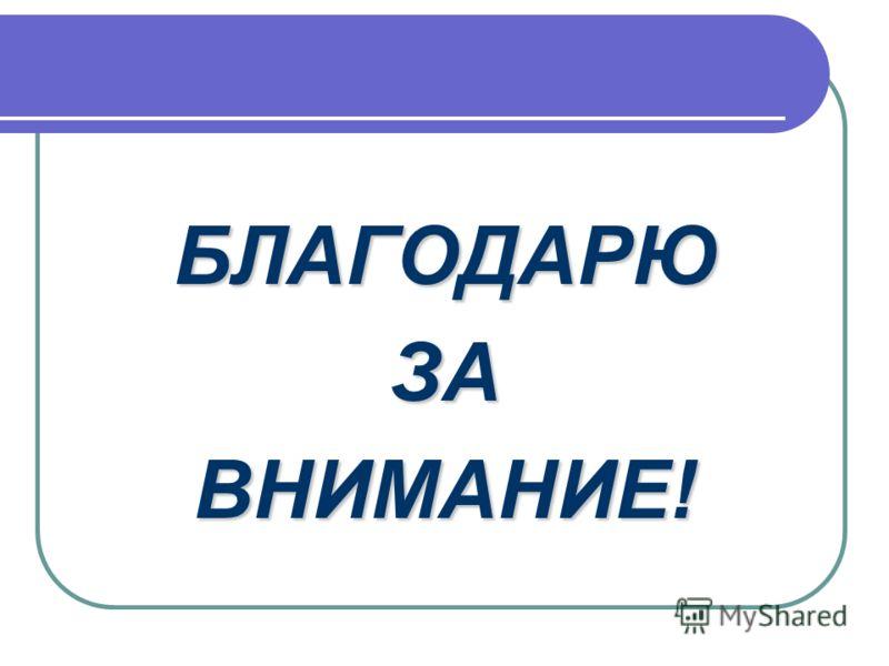 БЛАГОДАРЮЗАВНИМАНИЕ!