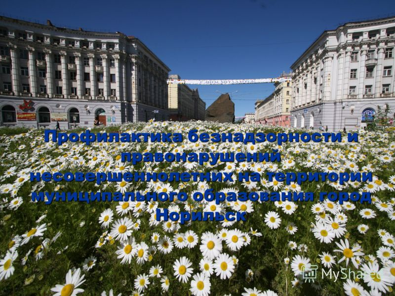 Профилактика безнадзорности и правонарушений несовершеннолетних на территории муниципального образования город Норильск