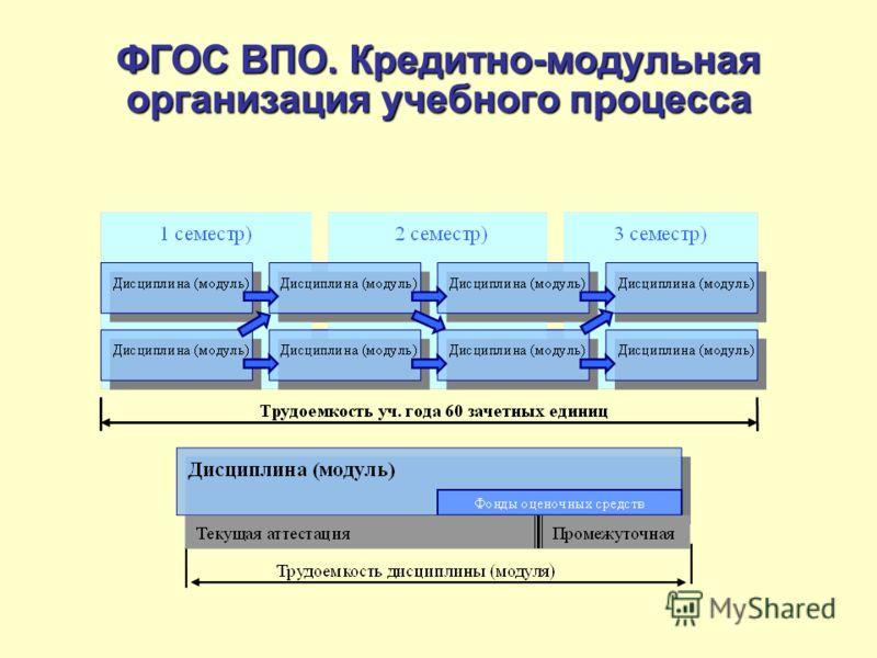 ФГОС ВПО. Кредитно-модульная организация учебного процесса