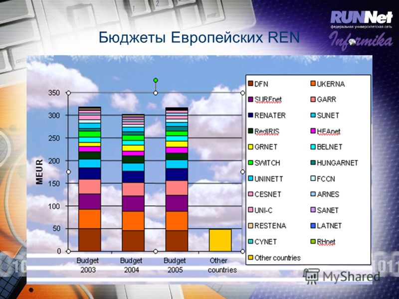 Бюджеты Европейских REN