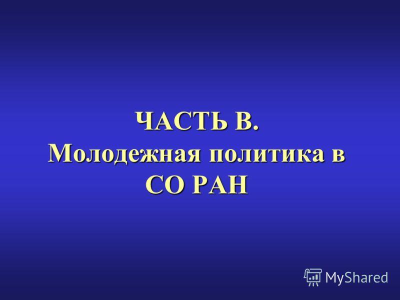 ЧАСТЬ В. Молодежная политика в СО РАН