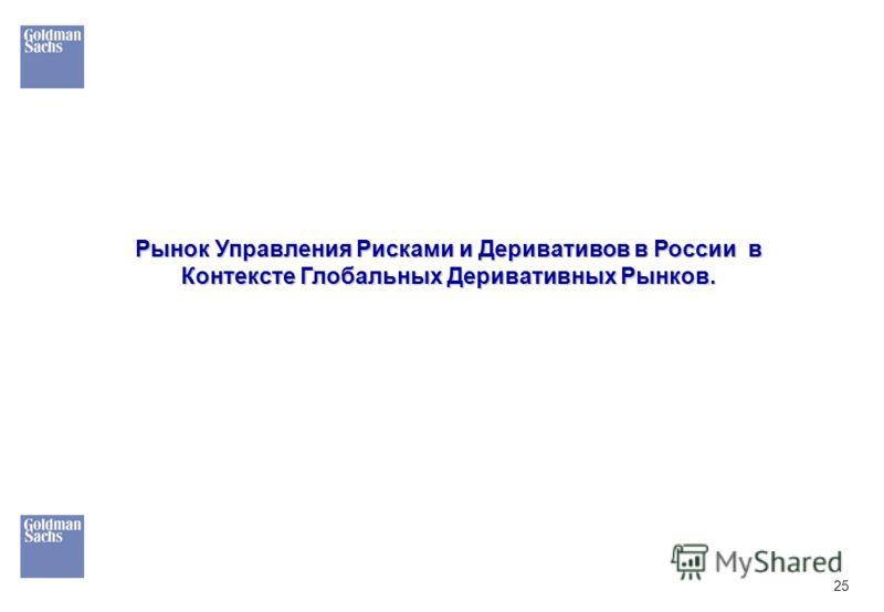 25 Рынок Управления Рисками и Деривативов в России в Контексте Глобальных Деривативных Рынков.