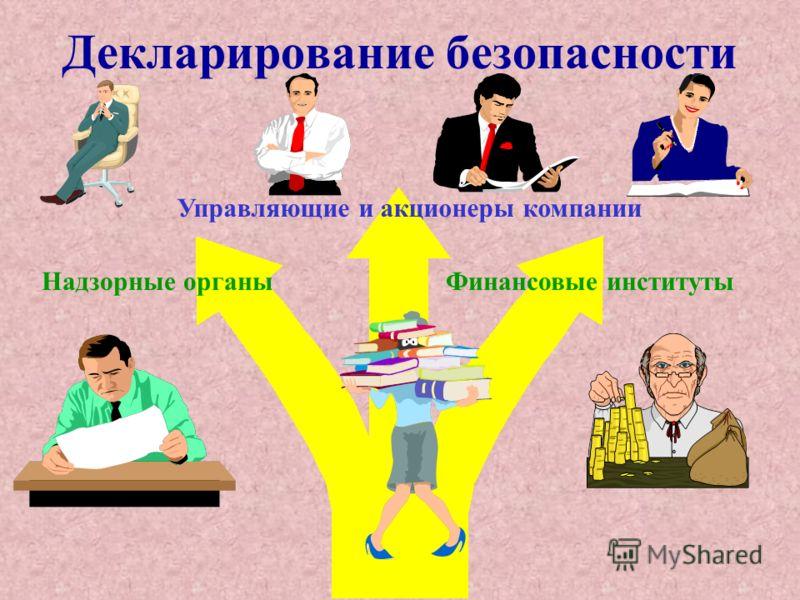 Надзорные органы Финансовые институты Декларирование безопасности Управляющие и акционеры компании