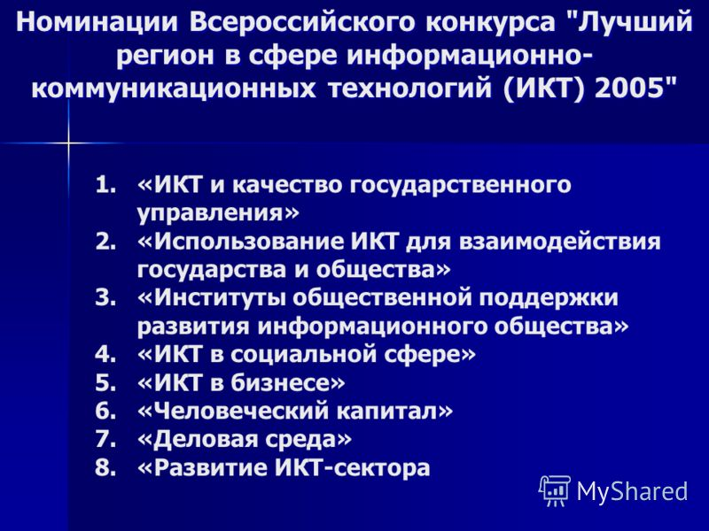 Номинации Всероссийского конкурса
