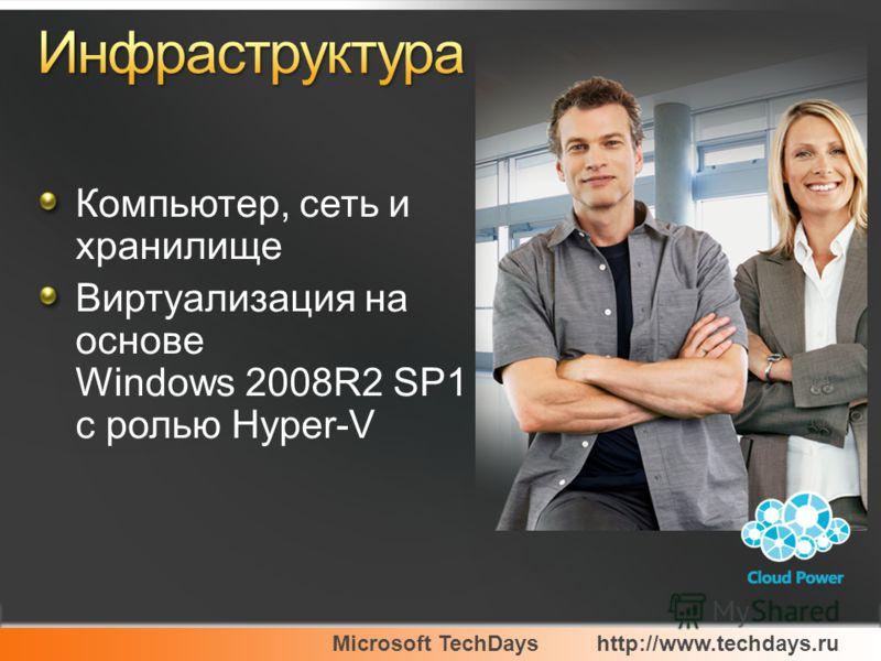 Компьютер, сеть и хранилище Виртуализация на основе Windows 2008R2 SP1 с ролью Hyper-V