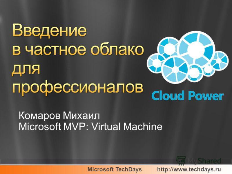 Microsoft TechDayshttp://www.techdays.ru Комаров Михаил Microsoft MVP: Virtual Machine