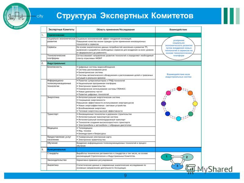 9 Структура Экспертных Комитетов 9