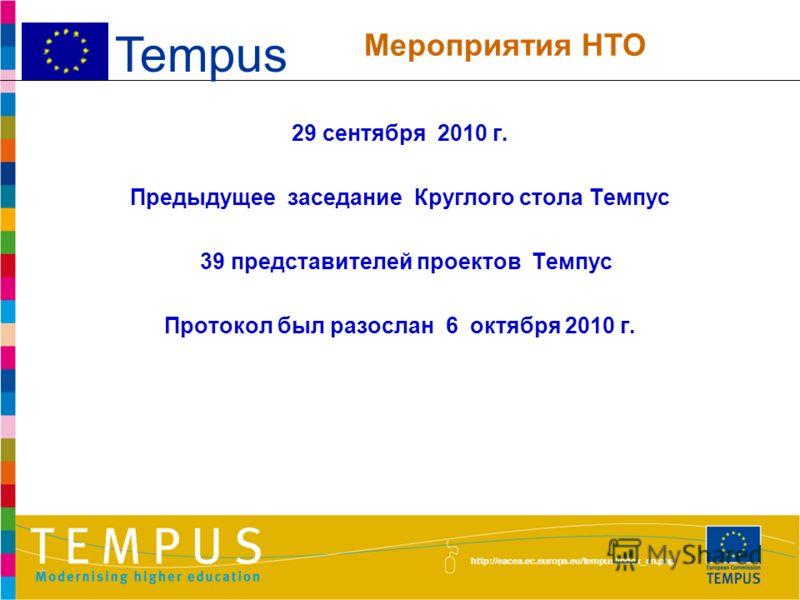 http://eacea.ec.europa.eu/tempus/index_en.php 1.Новости в сфере высшего образования и в деятельности программы Темпус, новые публикации Темпус, предстоящие мероприятия 2.Обмен опытом и информацией между проектами 3.Презентации проектов HEICA и CANDI