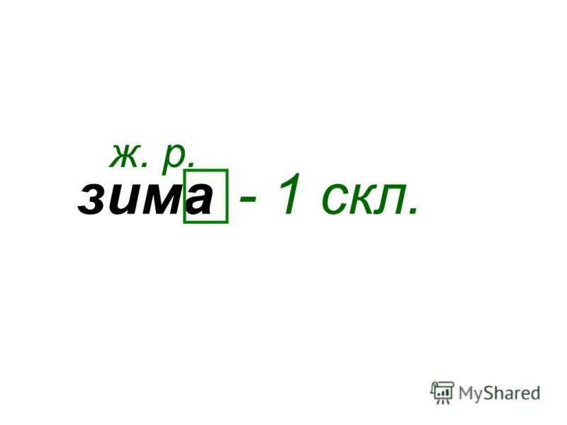зима ж. р. - 1 скл.