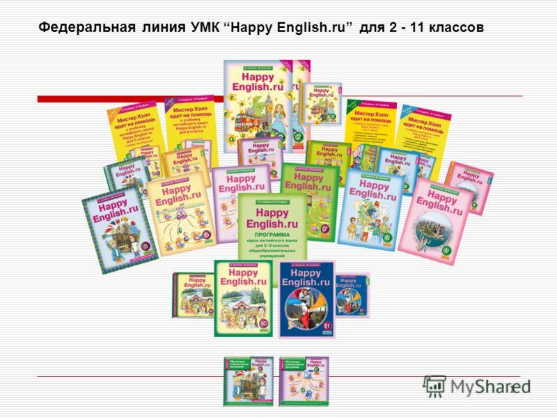 1 Федеральная линия УМК Happy English.ru для 2 - 11 классов