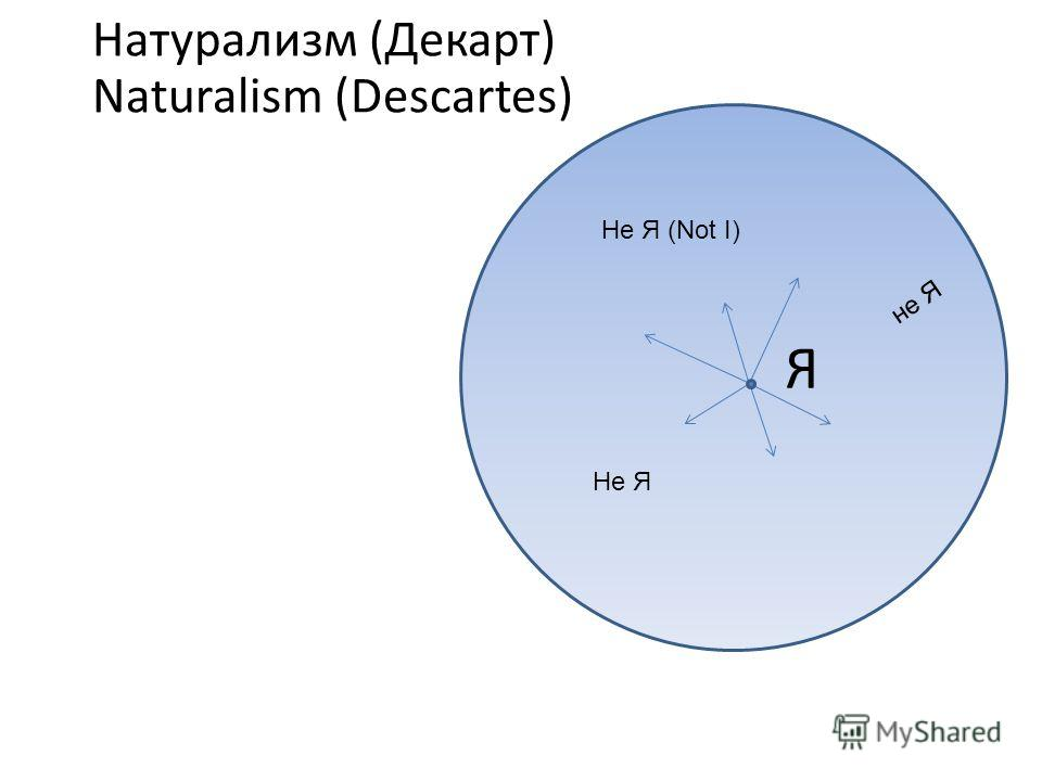 Натурализм (Декарт) Naturalism (Descartes) Я Не Я Не Я (Not I) не Я