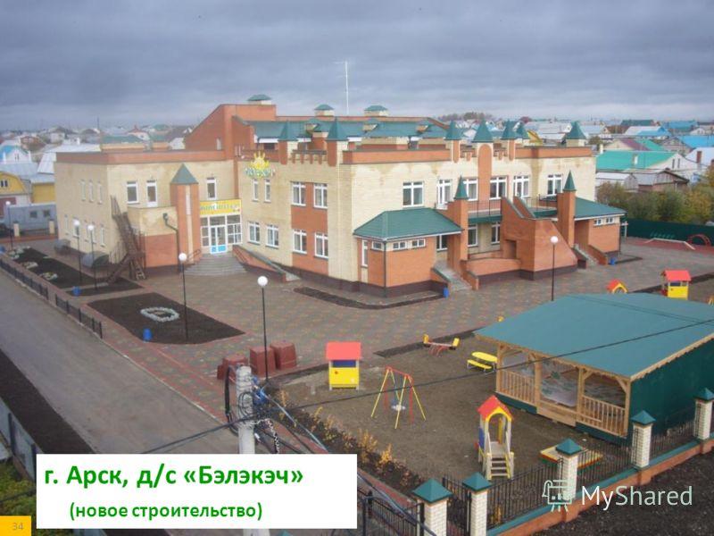 г. Арск, д/с «Бэлэкэч» (новое строительство) 34