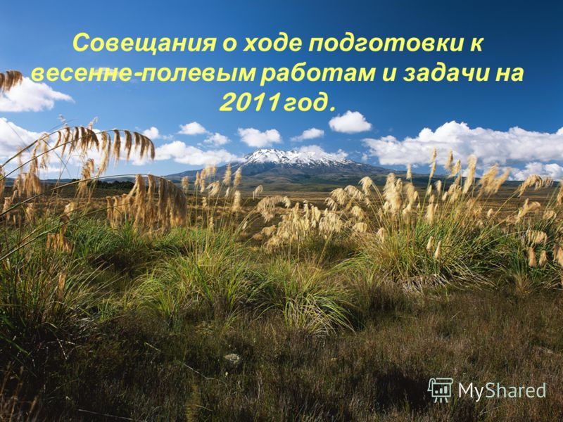 Совещания о ходе подготовки к весенне - полевым работам и задачи на 2011 год.