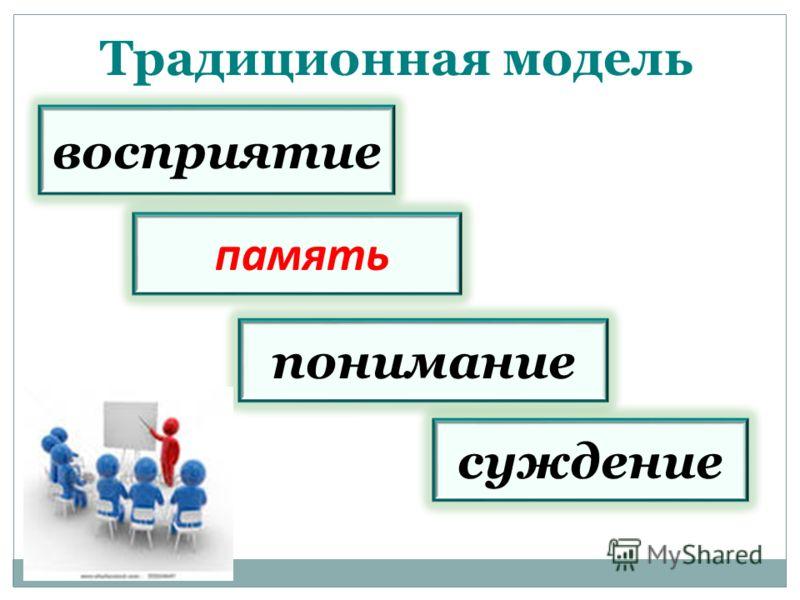 Традиционная модель понимание восприятие память суждение