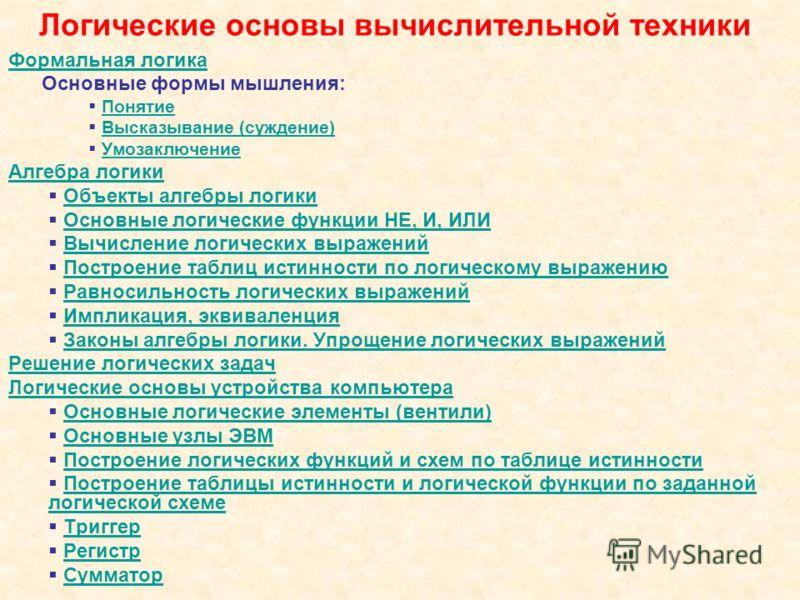 """на тему: """"ОСНОВЫ ЛОГИКИ И"""