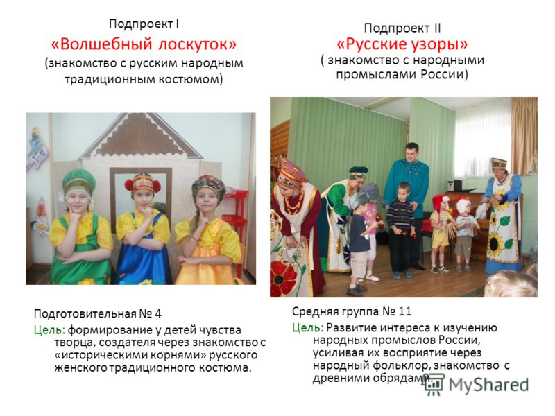 знакомство детей с русским костюмом матрешек