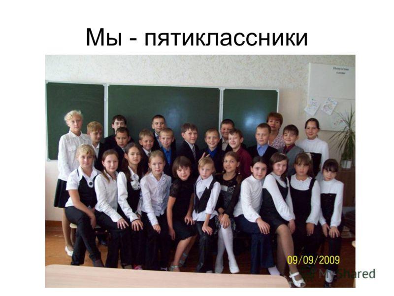 Мы - пятиклассники
