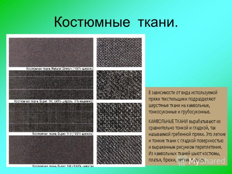 Костюмные ткани.