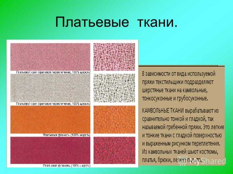 Платьевые ткани.