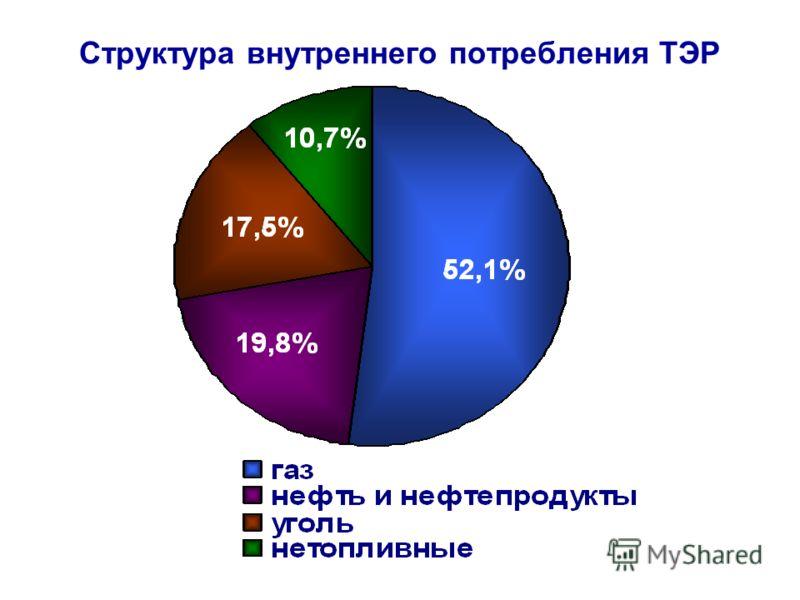 Структура внутреннего потребления ТЭР