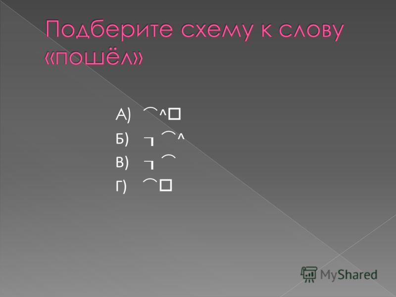 А) ^ Б) ^ В) Г)