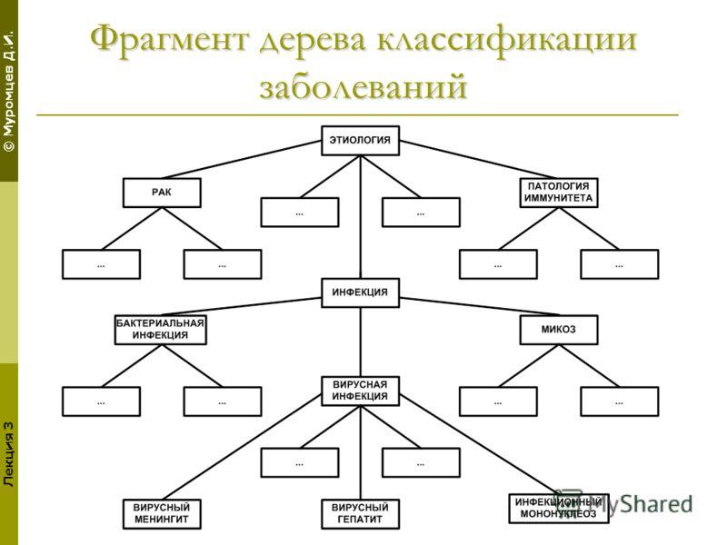 © Муромцев Д.И. Лекция 3 Фрагмент дерева классификации заболеваний