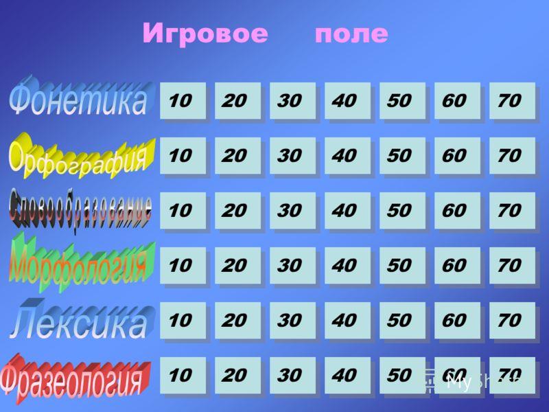 10 20 30 40 50 60 70 10 20 30 40 50 60 70 10 20 30 40 50 60 70 10 20 30 40 50 60 70 10 20 30 40 50 60 70 10 20 30 40 50 60 70 Игровое поле