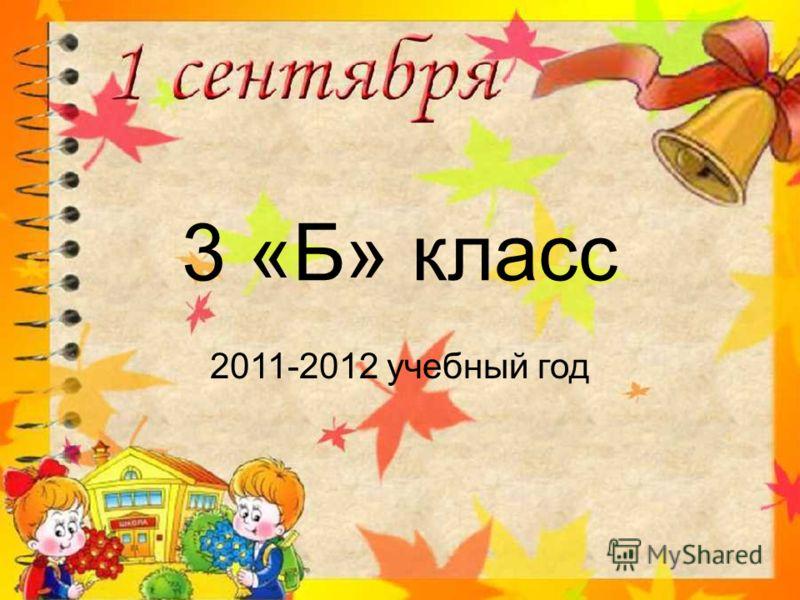 3 «Б» класс 2011-2012 учебный год